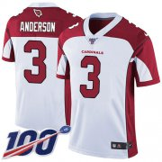 Wholesale Cheap Nike Cardinals #3 Drew Anderson White Men's Stitched NFL 100th Season Vapor Limited Jersey