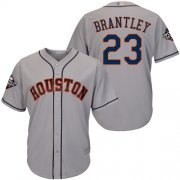Wholesale Cheap Astros #23 Michael Brantley Grey New Cool Base 2019 World Series Bound Stitched MLB Jersey