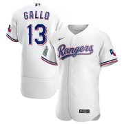 Wholesale Cheap Texas Rangers #13 Joey Gallo Men's Nike White Home 2020 Authentic Player MLB Jersey