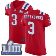 Wholesale Cheap Nike Patriots #3 Stephen Gostkowski Red Alternate Super Bowl LIII Bound Men's Stitched NFL Vapor Untouchable Elite Jersey