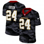 Cheap Washington Redskins #24 Antonio Gibson Men's Nike 2020 Black CAMO Vapor Untouchable Limited Stitched NFL Jersey