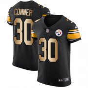 Wholesale Cheap Nike Steelers #30 James Conner Black Team Color Men's Stitched NFL Elite Gold Jersey