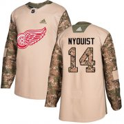 Wholesale Cheap Adidas Red Wings #14 Gustav Nyquist Camo Authentic 2017 Veterans Day Stitched Youth NHL Jersey