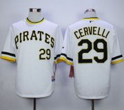 Wholesale Cheap Pirates #29 Francisco Cervelli White Alternate 2 Cool Base Stitched MLB Jersey