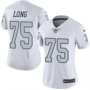 Wholesale Cheap Nike Raiders #75 Howie Long White Women's Stitched NFL Limited Rush Jersey