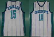 Wholesale Cheap Mitchell And Ness Hornets #15 Percy Miller White Throwback Stitched NBA Jersey