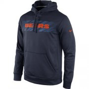 Wholesale Cheap Chicago Bears Nike KO Speed Wordmark Performance Hoodie Navy Blue