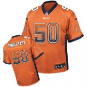 Wholesale Cheap Nike Bears #50 Mike Singletary Orange Alternate Men's Stitched NFL Elite Drift Fashion Jersey