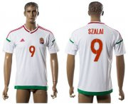 Wholesale Cheap Hungary #9 Szalai Away Soccer Country Jersey