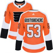 Wholesale Cheap Adidas Flyers #53 Shayne Gostisbehere Orange Home Authentic Women's Stitched NHL Jersey