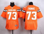 Wholesale Cheap Nike Browns #73 Joe Thomas Orange Alternate Men's Stitched NFL New Elite Jersey