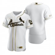 Wholesale Cheap St. Louis Cardinals Blank White Nike Men's Authentic Golden Edition MLB Jersey