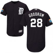 Wholesale Cheap Tigers #28 Niko Goodrum Navy Blue Flexbase Authentic Collection Stitched MLB Jersey