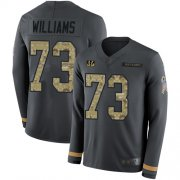 Wholesale Cheap Nike Bengals #73 Jonah Williams Anthracite Salute to Service Men's Stitched NFL Limited Therma Long Sleeve Jersey
