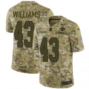 Wholesale Cheap Nike Saints #43 Marcus Williams Camo Youth Stitched NFL Limited 2018 Salute to Service Jersey
