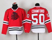 Wholesale Cheap Blackhawks #50 Corey Crawford Red(Red Skull) Stitched Youth NHL Jersey