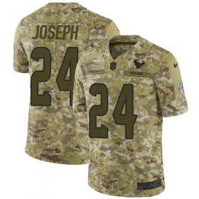 Wholesale Cheap Nike Texans #24 Johnathan Joseph Camo Youth Stitched NFL Limited 2018 Salute to Service Jersey