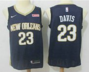 Wholesale Cheap Men's New Orleans Pelicans #23 Anthony Davis New Navy Blue 2017-2018 Nike Swingman zatarains Stitched NBA Jersey