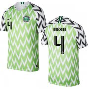 Wholesale Cheap Nigeria #4 Omeruo Home Soccer Country Jersey