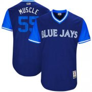 "Wholesale Cheap Blue Jays #55 Russell Martin Navy ""Muscle"" Players Weekend Authentic Stitched MLB Jersey"