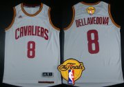 Wholesale Cheap Men's Cleveland Cavaliers #8 Matthew Dellavedova 2016 The NBA Finals Patch White Jersey