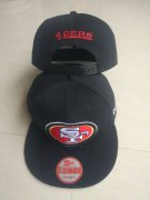 Wholesale Cheap 49ers Team Logo Black Adjustable Hat LT