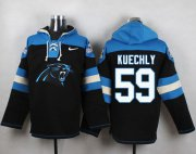 Wholesale Cheap Nike Panthers #59 Luke Kuechly Black Player Pullover NFL Hoodie