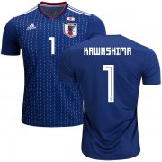 Wholesale Cheap Japan #1 Kawashima Home Soccer Country Jersey
