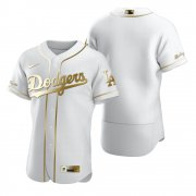 Wholesale Cheap Los Angeles Dodgers Blank White Nike Men's Authentic Golden Edition MLB Jersey