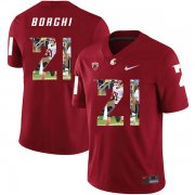 Wholesale Cheap Washington State Cougars 21 Max Borghi Red Fashion College Football Jersey