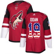 Wholesale Cheap Adidas Coyotes #19 Shane Doan Maroon Home Authentic USA Flag Stitched Youth NHL Jersey