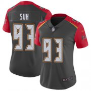 Wholesale Cheap Nike Buccaneers #93 Ndamukong Suh Gray Women's Stitched NFL Limited Inverted Legend Jersey