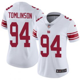 Wholesale Cheap Nike Giants #94 Dalvin Tomlinson White Women\'s Stitched NFL Vapor Untouchable Limited Jersey