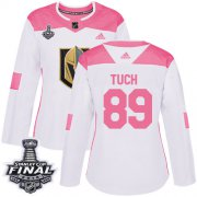 Wholesale Cheap Adidas Golden Knights #89 Alex Tuch White/Pink Authentic Fashion 2018 Stanley Cup Final Women's Stitched NHL Jersey