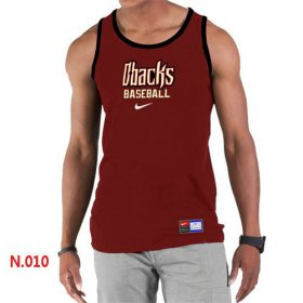 Wholesale Cheap Men\'s Nike Arizona Diamondbacks Home Practice Tank Top Red