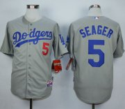 Wholesale Cheap Dodgers #5 Corey Seager Grey Cool Base Stitched MLB Jersey