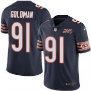 Wholesale Cheap Nike Bears #91 Eddie Goldman Navy Blue Team Color Men's 100th Season Stitched NFL Vapor Untouchable Limited Jersey