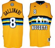 Wholesale Cheap Denver Nuggets #8 Danilo Gallinari Revolution 30 Swingman Yellow Jersey