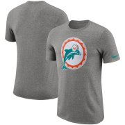 Wholesale Cheap Miami Dolphins Nike Marled Historic Logo Performance T-Shirt Heathered Gray