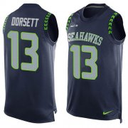 Wholesale Cheap Nike Seahawks #13 Phillip Dorsett Steel Blue Team Color Men's Stitched NFL Limited Tank Top Jersey