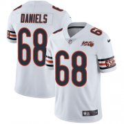 Wholesale Cheap Nike Bears #68 James Daniels White Men's 100th Season Stitched NFL Vapor Untouchable Limited Jersey