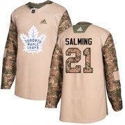 Wholesale Cheap Adidas Maple Leafs #21 Borje Salming Camo Authentic 2017 Veterans Day Stitched NHL Jersey