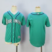 Wholesale Cheap Mariners Blank Green Cool Base Stitched Youth MLB Jersey