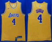 Wholesale Cheap Men's Los Angeles Lakers #4 Alex Caruso 2019 Yellow Nike Swingman Stitched NBA Jersey