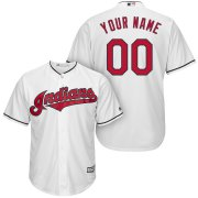 Wholesale Cheap Cleveland Indians Majestic Cool Base Custom Jersey White