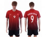 Wholesale Cheap Turkey #9 Hakan Sukur Home Soccer Country Jersey