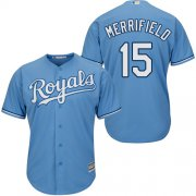 Wholesale Cheap Royals #15 Whit Merrifield Light Blue New Cool Base Alternate 1 Stitched MLB Jersey