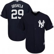 Wholesale Cheap Yankees #29 Gio Urshela Navy Blue New Cool Base Stitched Youth MLB Jersey