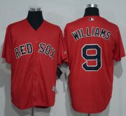 Wholesale Cheap Red Sox #9 Ted Williams Red New Cool Base Stitched MLB Jersey