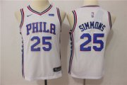 Cheap Nike 76ers 25 Ben Simmons White Youth Nike Swingman Jersey